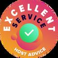 Vi tog os tid til personligt og anonymt at undersøge hver eneste firmas kundeservice. Excellent-bagdet blev givet til firmaer, der overholdt HostAdvices høje standarder for kundeservice, hvilket vil sige, at servicen har vist sig at være hurtig, effektiv, informativ og ikke mindst nyttig.